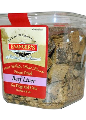 Evangers Evangers Freeze Dried Beef Liver Treat for Cats and Dogs 4.6oz
