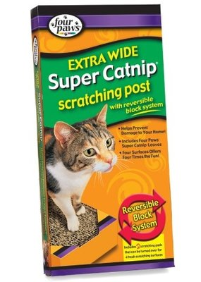 Four Paws FP Super Catnip Scratch DblWide Lg