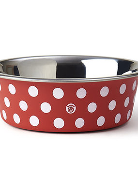 "Pet Rageous Pet Rageous St. Barts Bowl. 5.50"" Red/White Polka Dots"