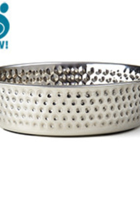 Pet Rageous Pet Rageous Crete Hammered Stainless Bowl
