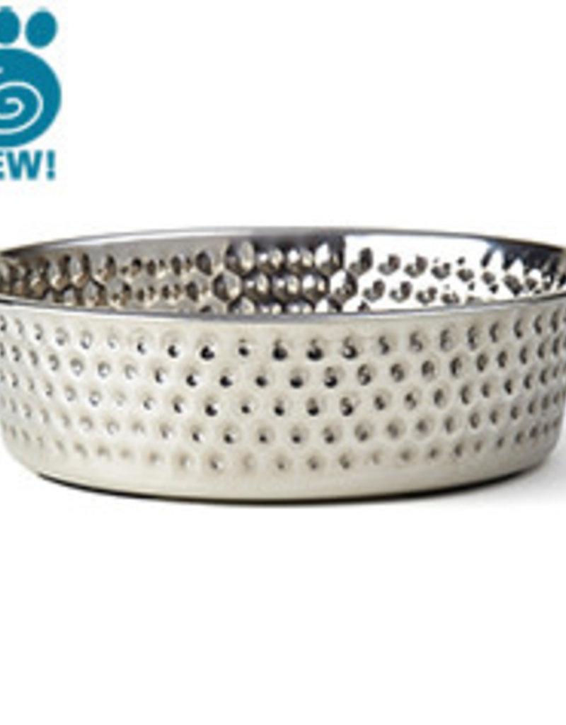 Pet Rageous Pet Rageous Crete Hammered Stainless Bowl