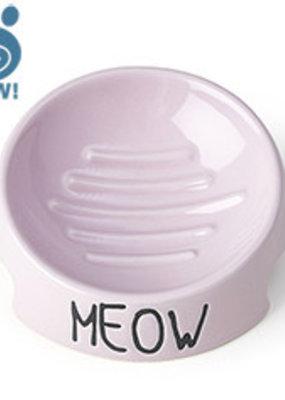 "Pet Rageous Pet Rageous Meow 5"" Inverted Bowl Pink"