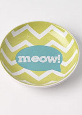 """Pet Rageous Pet Rageous Zigazaga 5.25"""" Saucer Meow Lime"""