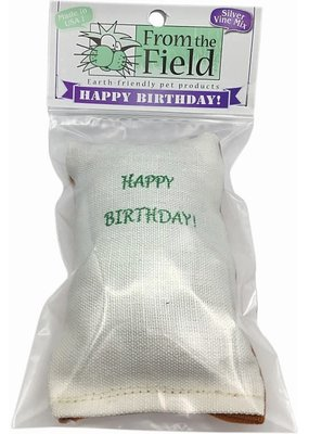 From the Field From the Field Happy Birthday Cat Toy -Silver Vine Mix