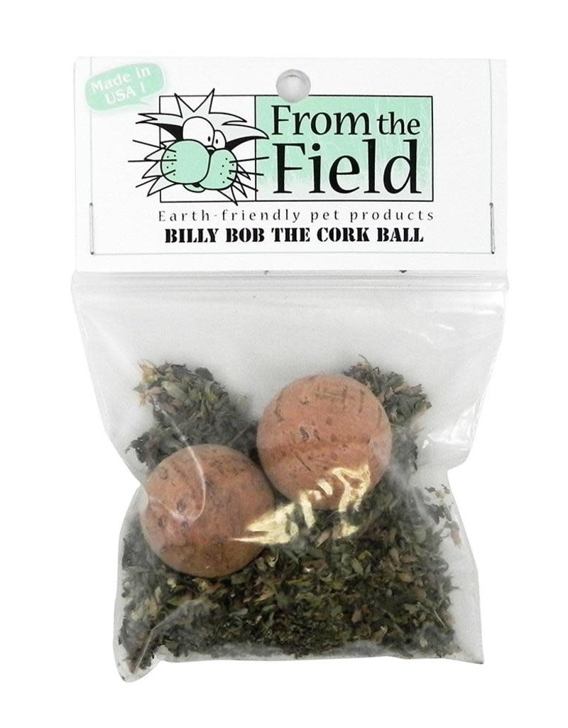 From the Field From The Field Billy Bob the Cork Ball 2pk w/ catnip
