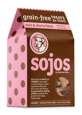 Sojos SOJOS Grain Free Biscuits Duck & Cherry