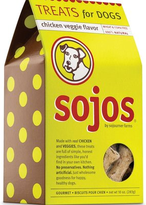 Sojos SOJOS Natural Dog Biscuit 10oz Chicken & Veggie