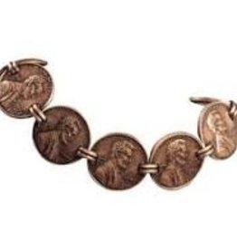 Bracelet Copper Penny Link WH