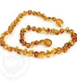 Necklace Amber- Baroque Honey Med MG