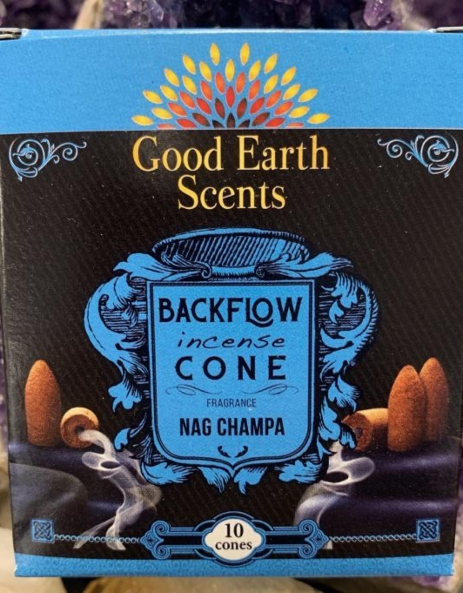 Incense Boxed Backflow Cones Nag Champa 12pk DK