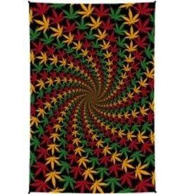 Mini 3D Tapestry Rasta Leaf Spiral SJ