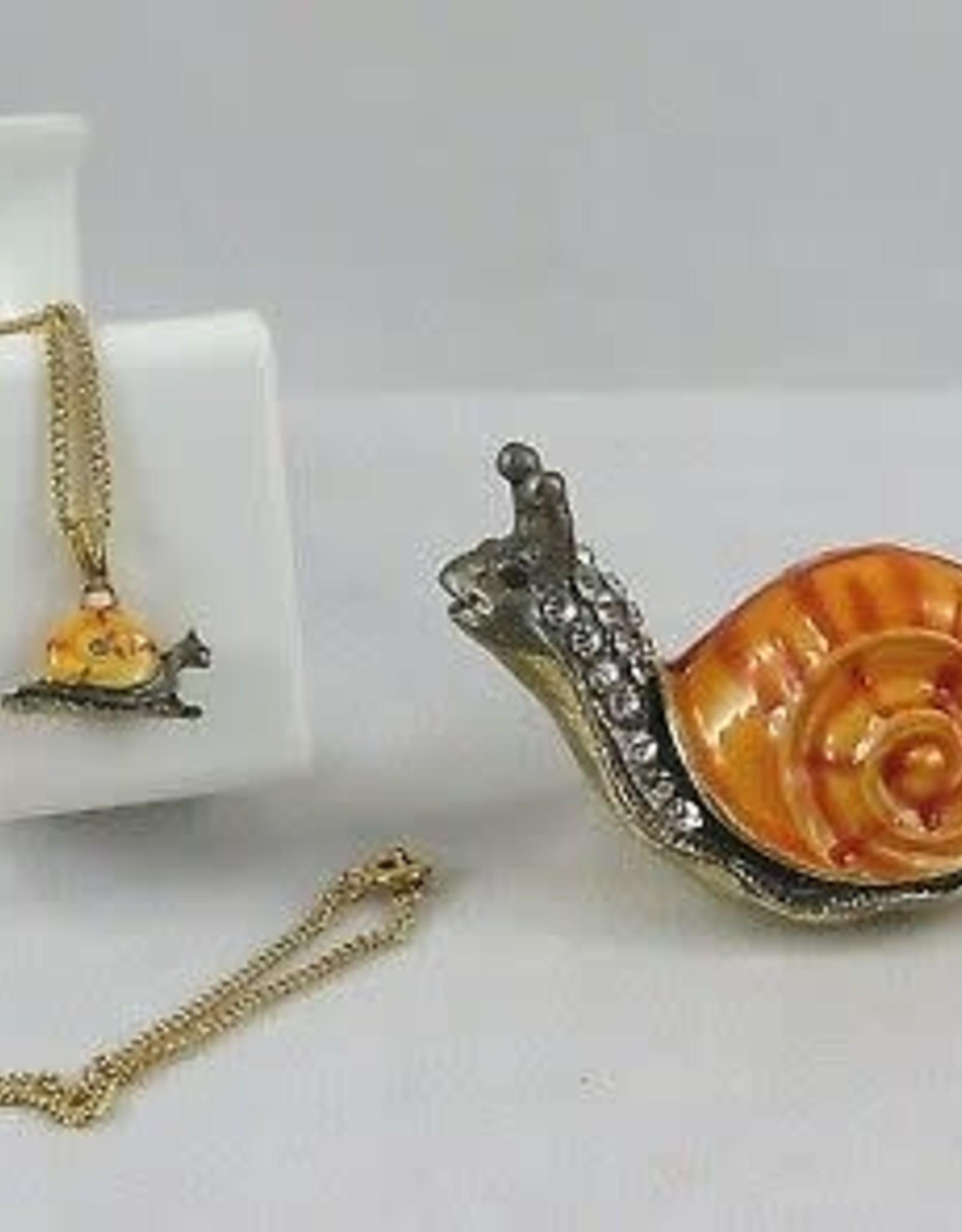 Enameled Box Snail w/ Necklace PRT