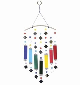 "Windchime Rainbow Glass & Mirror 14"" WB"