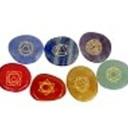 Gemstone Carved Chakras Boxed (Set 7) KE