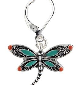 Earring S/Enamel Dragonfly ER RAIN