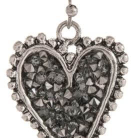 Earrings Crystal Dot Edge Heart RAIN