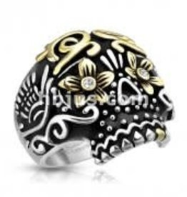 Ring Skull Day of the Dead S.Steel HB Size 11