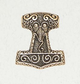 Pendant Bronze Thor's Hammer Abstract Design BZP NIR