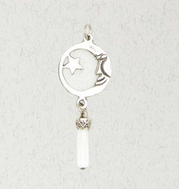 Crystal Pendant Moon Man & Star