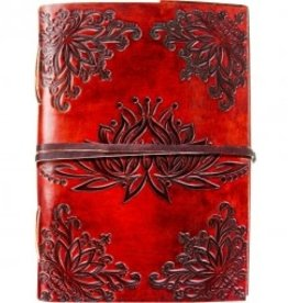 Journal Leather with Strap - Lotus Flower KE DNR