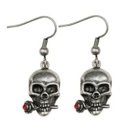 Earrings Skull/Rose PG