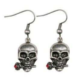 Earrings Skull/Rose PG
