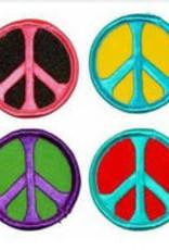 "Patch Peace Sign Round Asst. Colors 1.75"" AFG"