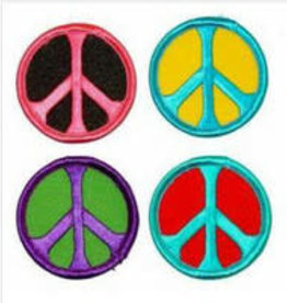 "Patch Peace Sign Round Asst. Colors 1.75"" AFG"