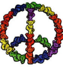 Patch Grateful Dead Dancing Bear Peace Sign AFG