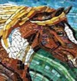 Puzzle Stained Glass Horse SO