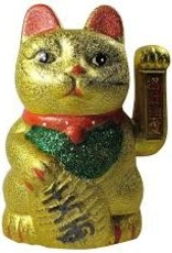 Waving Gold Lucky Cat OS