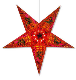 Star Lamp Filigree Red WP