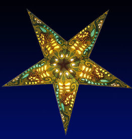 Star Lamp Filigree Green WP
