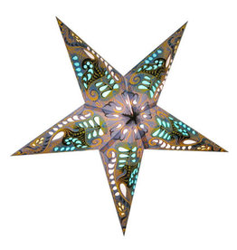 Star Lamp Filigree Blue WP
