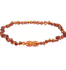 Necklace Amber- Baroque Cognac M Dk Color MG