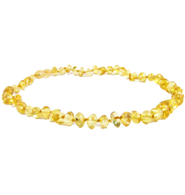 Necklace Amber- Baroque Lemon Med MG