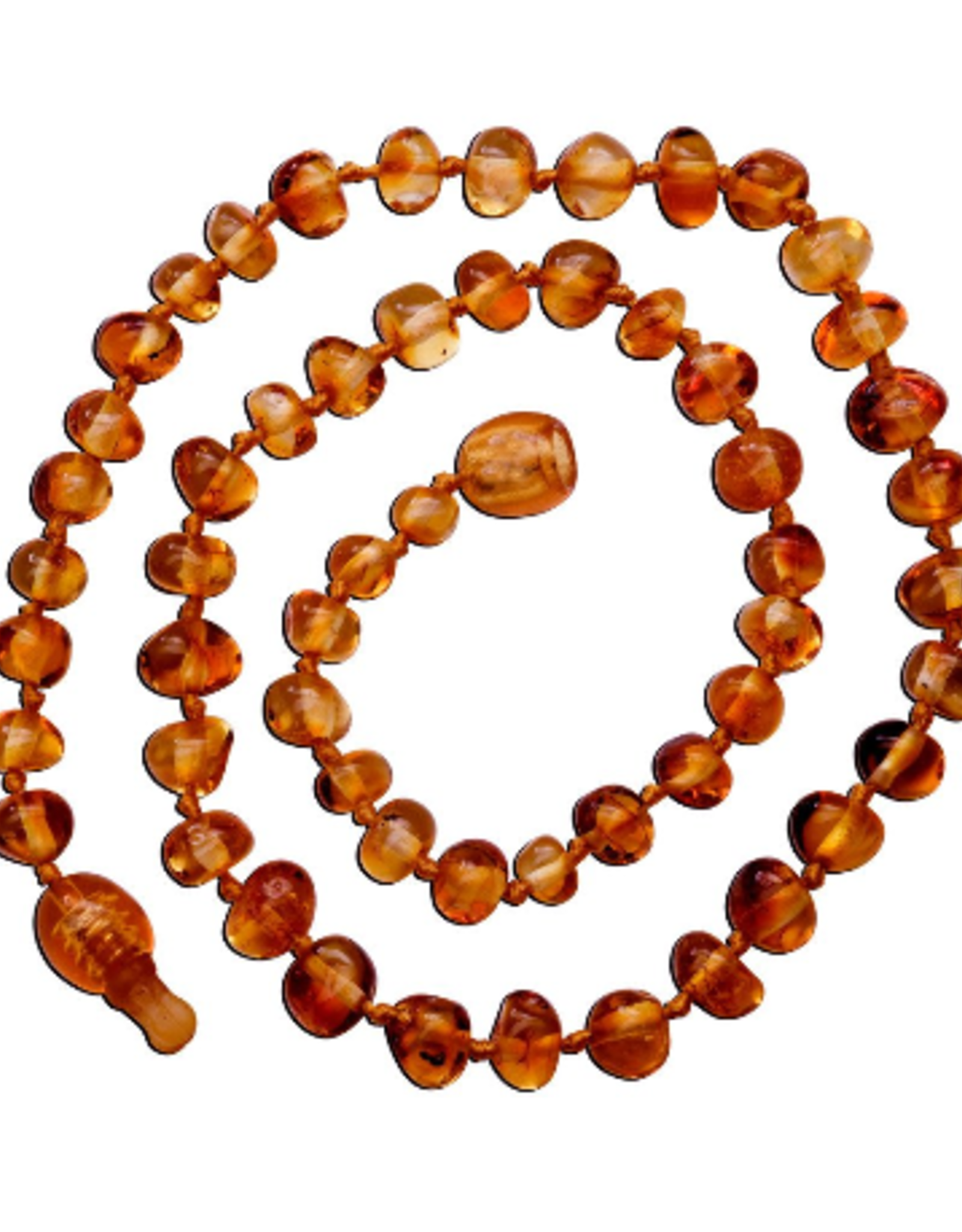 Necklace Amber- Baroque Light Cherry Med MG
