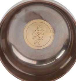 Copper Alloy Singing Bowl Om 3 1/4x1 1 1/2 w/case BEN