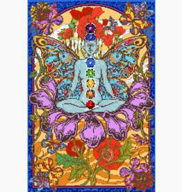 3D Tapestry Chakra Lotus BEN