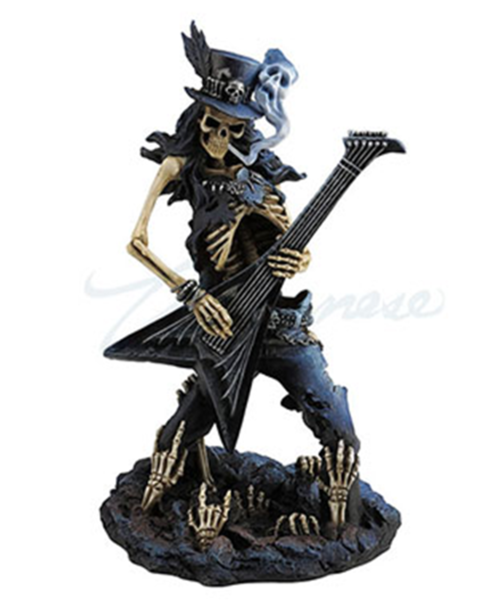 """Statue Skeleton Playing Guitar """"Play Dead"""" USI"""