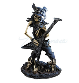"Statue Skeleton Playing Guitar ""Play Dead"" USI"