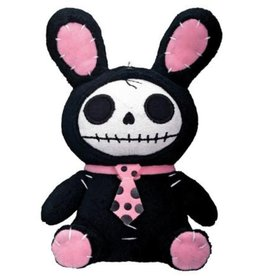 Furry Bones Black Bun Bun Plush Small PG