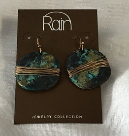 Earrings Wire Wrapped Circle RAIN