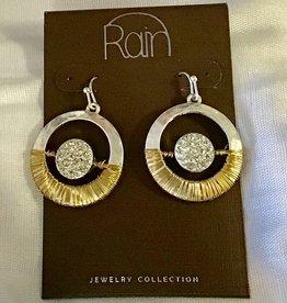 Earrings TT Wire Wrap Cry Orbit RAIN