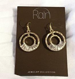 Earrings TT Wire Wrap Circles RAIN