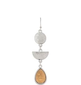 Earrings TT Triple Shape Drop RAIN