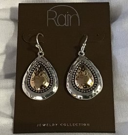 Earrings TT Granulated Teardrop RAIN
