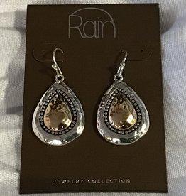Earrings TT Granulated Teardrop RAIN
