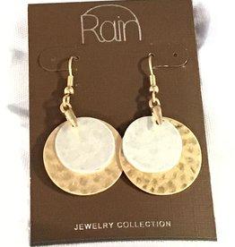 Earrings TT Dbl Layer Discs RAIN