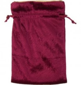 Bag Tarot Burgundy Velvet Bag W/Gold Lining KE